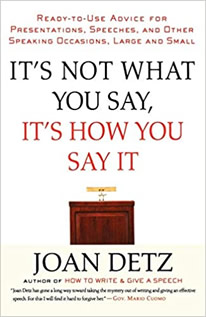 It's Not What You Say, It's How You Say It